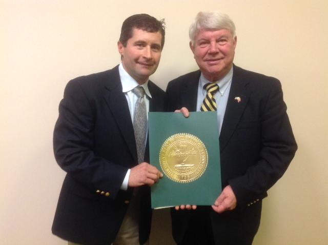 State Representative Jimmy Eldridge and Wade Norris